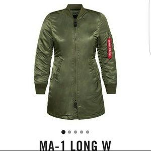 ALPHA INDUSTRIES MA-1 LONGLINE  BOMBER JACKET